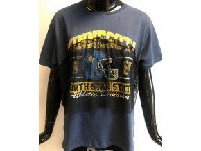Dětské/ dámské triko Brave Soul modré s krajkou