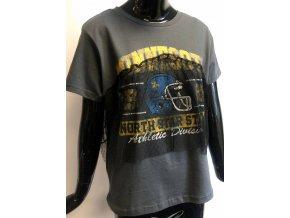 Dětské/ dámské triko Brave Soul šedé s krajkou