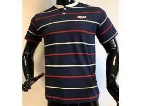 Pánské triko Lonsdale, pruhované, tmavé