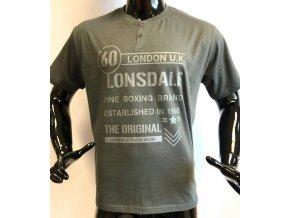 Pánské triko Lonsdale šedé