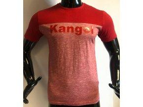 Pánské triko s krátkým rukávem KANGOL, červené