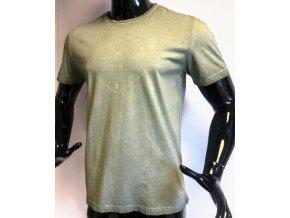 Pánské triko Carnet de vol , šedozelené
