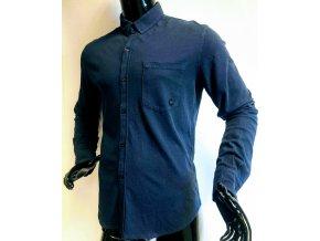 Pánská bavlněná neformální košile La Compagnie du lin, modrá