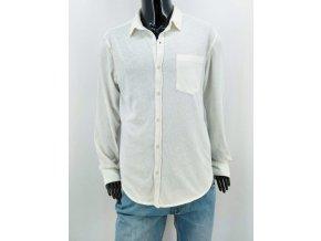 Pánská bavlněná neformální košile La Compagnie du lin,bílá