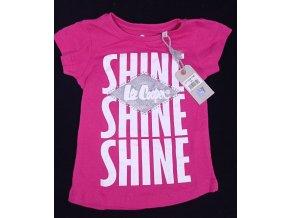 Dětské triko Lee Cooper- Shine,  tmavě růžové