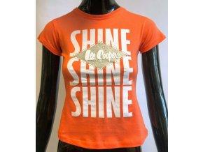 Dětské triko Lee Cooper- Shine,  oranžové