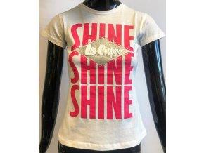 Dětské triko Lee Cooper- Shine, bílé