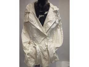 Dívčí nepromokavý kabát Marése, bílý