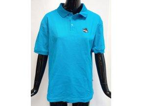 Dámské barevné triko s límečkem ATZ, modré