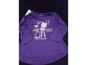 Dívčí triko s dlouhým rukávem Petits, fialové