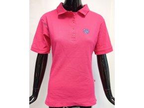 Dámské barevné triko s límečkem ATZ, růžové