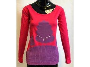 Dámské triko s dlouhým rukávem ATZ, růžové
