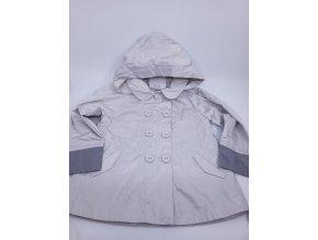 Dívčí nepromokavý kabátek Marése, šedý