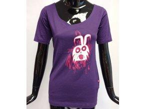 Dámské triko ATZ s krátkým rukávem fialové s motivem