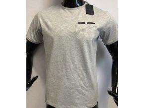 Pánské bavlněné triko Jones Smith, šedé