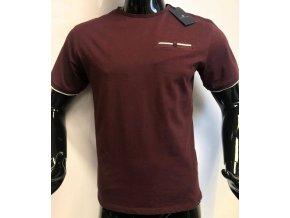 Pánské bavlněné triko Jones Smith, vínové