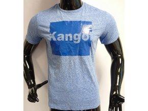 Pánské triko s krátkým rukávem KANGOL, světle modré