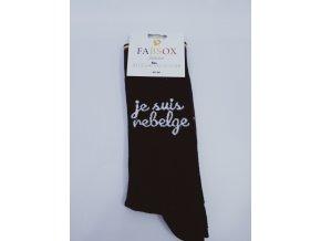 Pánské bavlněné ponožky Fabsox, černé