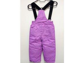 Dětské oteplováky s laclem, fialové