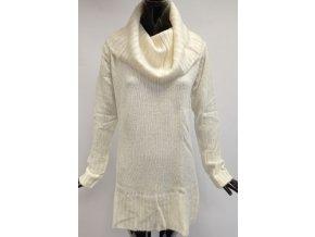 Svetrové šaty s rolákem Usha, bílé