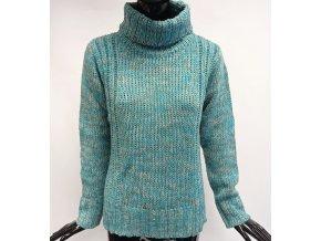 Pletený svetr s rolákem Usha, tyrkysový