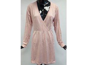 Svetrové šaty z úpletu Usha, růžové