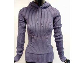 Dámský svetr s kapucí MO, fialový