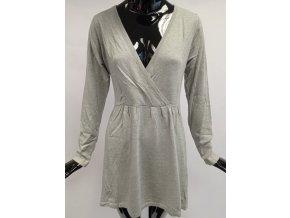 Svetrové šaty z úpletu Usha, šedé