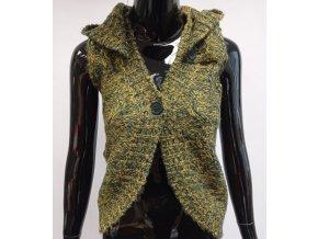 Dámská pletená vesta s knoflíky MO, zelená