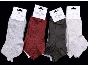 Dámské kotníkové ponožky 2 páry Fabsox, vel. 37-41