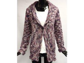 Dámský pletený cardigan Usha, fialový