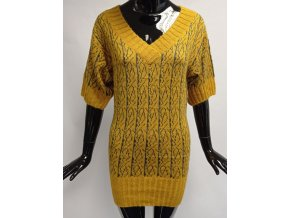 Dámské svetrové šaty Mo, hořčicové