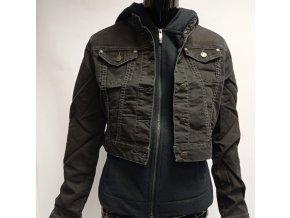 Krátká džínová bunda Raiden, černá