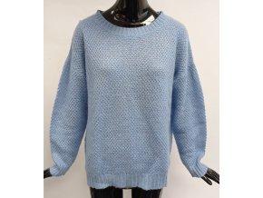 Dámský pletený svetr Sweetë (37268) modrý