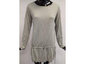 Dámský prodloužený svetr z úpletu Usha, šedý