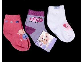 Baby barevné ponožky 3 páry