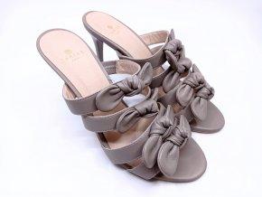 Dámské pantofle na podpatku Carine Paris, šedé