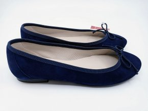 Dámské kožené módní baleríny Sandra Morales, modré
