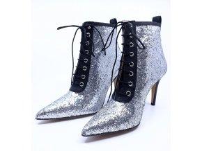 Dámské kotníkové boty na podpatku Kalda