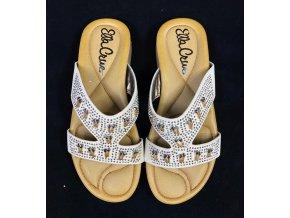 Módní pantofle Ella Cruz, hnědé