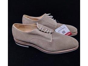 Pánské kožené polobotky Prime shoes -šedé