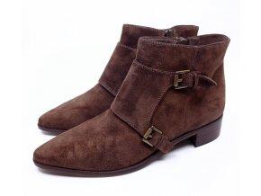 Dámské kotníkové boty Sí, hnědé