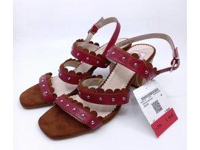Páskové boty na podpatku YingYong Balance, červené