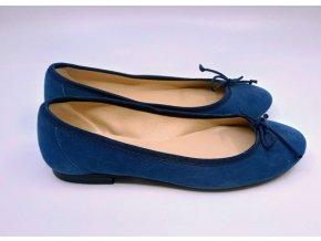 Dámské semišové baleríny Sandra Morales, modré