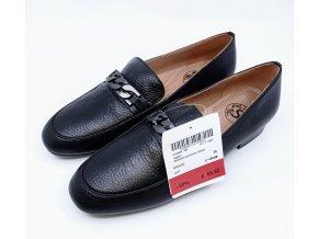 Dámské kožené boty s páskem Sí, černé