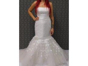 Svatební šaty Pronuptia s květinami, velikost 42