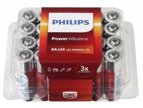 philips batterijen aa power alkaline zilver rood 24 stuks 217813