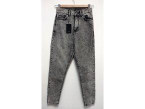 Dámské džíny s vysokým pasem Dr. Denim Jeans šedé