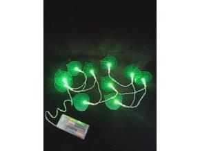 Dekorativní světelný řetěz, 10 led,list