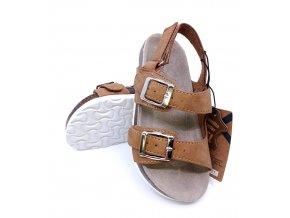 Dětské sandály s pevnou podrážkou, hnědé